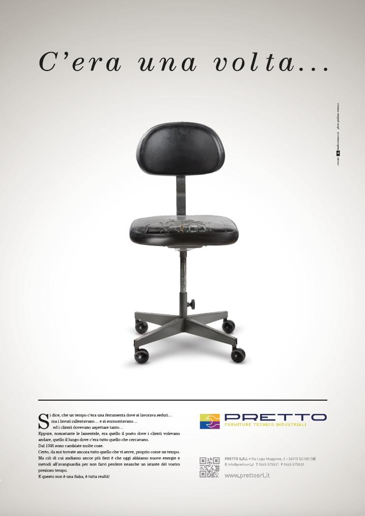Pretto srl - forniture industriali - campagna pubblicitaria