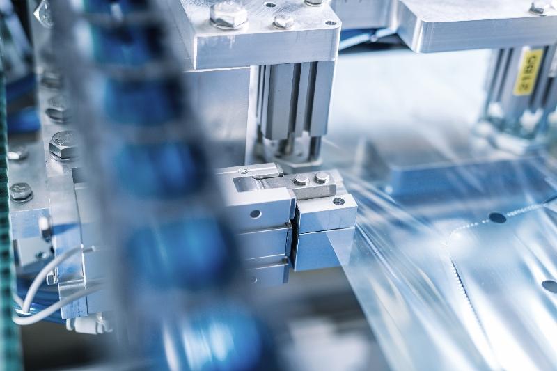 Dettaglio di un macchinario per imballaggi di SMC
